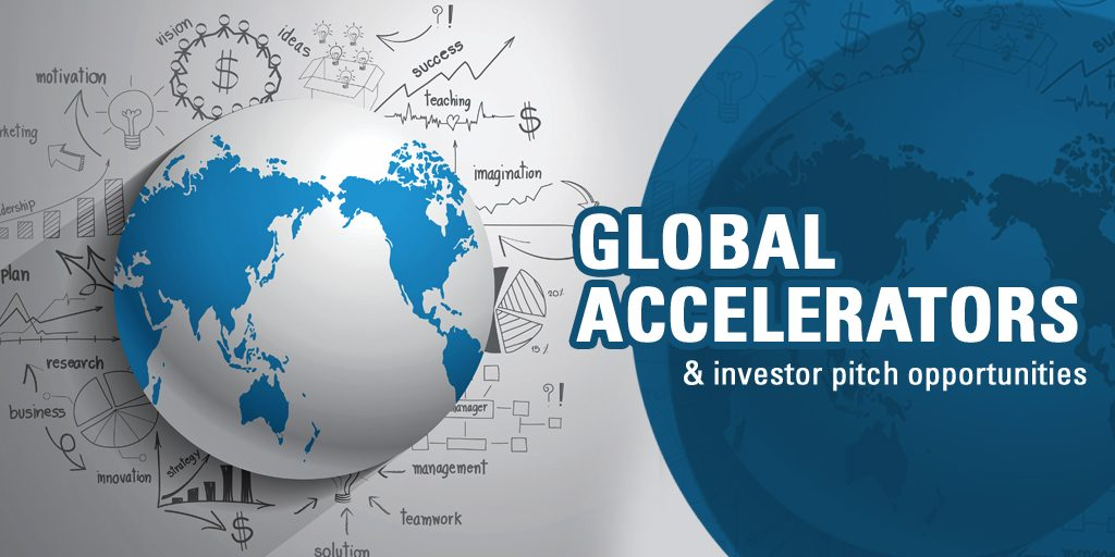 Global accelerators and investor pitch opportunities